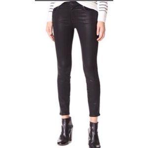 Club Monaco Black Coated Skinny Jeans